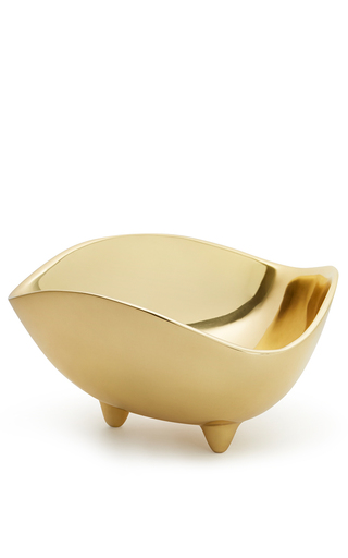 Medium aerin gold large triangular serving bowl