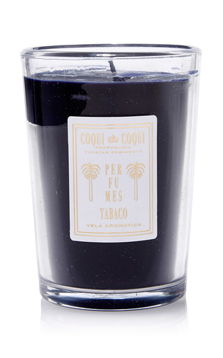 Medium coqui coqui clear tobaco candle