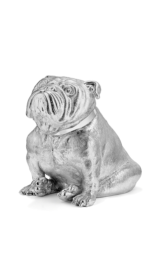 Medium asprey silver bulldog money bank 2