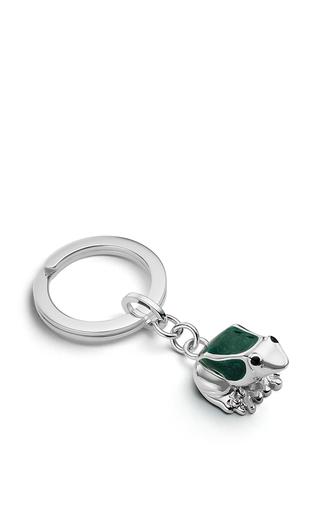 Medium asprey green frog key ring