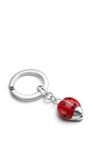 Medium asprey red ladybird key ring