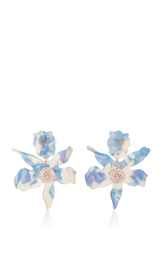 Medium lele sadoughi blue lele sadoughi sky crystal lily earrings