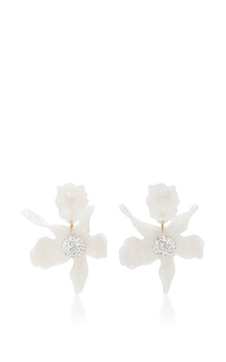 Medium lele sadoughi ivory lele sadoughi pearl crystal lily earrings