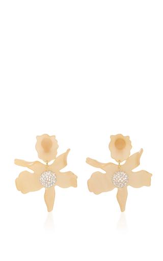 Medium lele sadoughi gold lele sadoughi honey crystal lily earrings