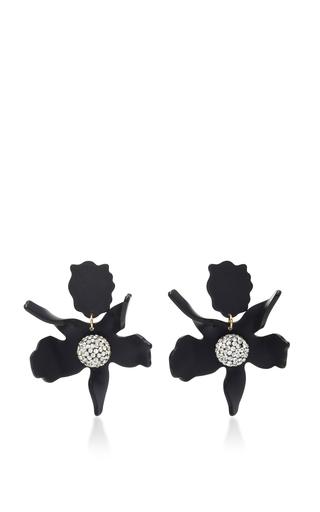 Medium lele sadoughi black lele sadoughi jet crystal lily earrings