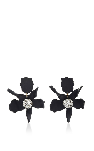 Medium lele sadoughi black lele sadoughi jet crystal lily earrings