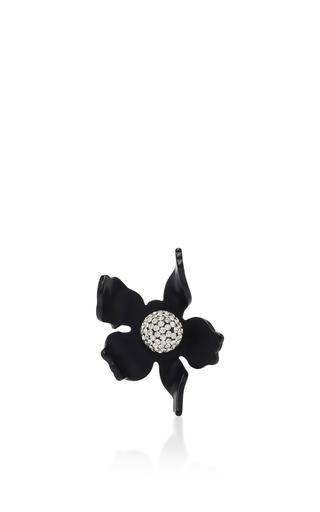 Medium lele sadoughi black lele sadoughi jet crystal lily ring