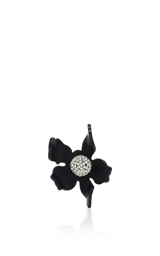 Medium lele sadoughi black lele sadoughi jet crystal lily ring