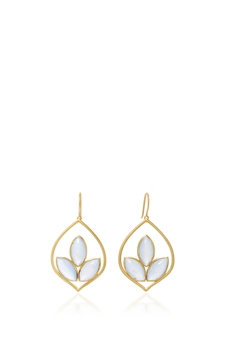 Medium jamie wolf gold small acorn earrings with chalcedony