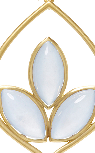 Small Acorn Earrings With Blue Chalcedony by JAMIE WOLF for Preorder on Moda Operandi