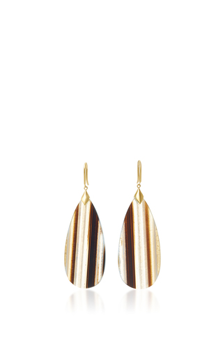 Medium jamie wolf gold marquis element earrings with pear shaped onyx