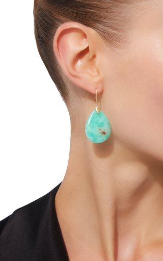 Marquis Element Earrings With Pear Shaped Chrysophrase by JAMIE WOLF for Preorder on Moda Operandi