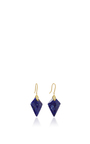 Marquis Element Earrings With Marquis Shaped Lapis And White Diamonds by JAMIE WOLF for Preorder on Moda Operandi