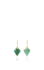 Marquis Element Earrings With Marquis Shaped Emerald Slices And White Diamonds by JAMIE WOLF for Preorder on Moda Operandi