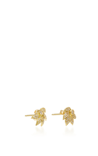 Lotus Stud With Pavé White Diamonds by JAMIE WOLF for Preorder on Moda Operandi