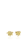 Lotus Stud Earrings With White Diamonds by JAMIE WOLF for Preorder on Moda Operandi