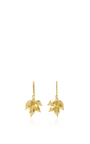 Ivy Leaf Drop Earrings With White Diamonds by JAMIE WOLF for Preorder on Moda Operandi