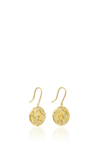 Ivy Vine Earrings With White Diamonds by JAMIE WOLF for Preorder on Moda Operandi