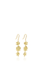 Long White Lilac Earrings With White Diamonds by JAMIE WOLF for Preorder on Moda Operandi