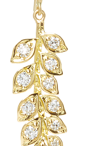 Small Vine Earrings With White Diamonds by JAMIE WOLF for Preorder on Moda Operandi