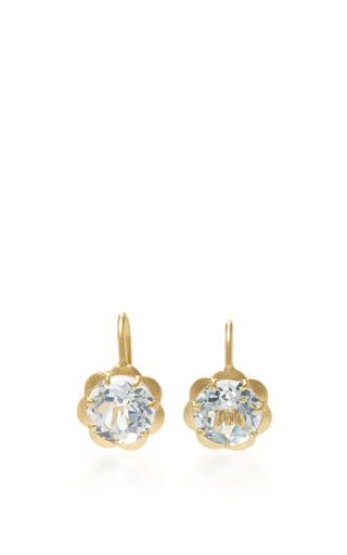 Petite Scallop Drop Earrings With White Topaz by JAMIE WOLF for Preorder on Moda Operandi