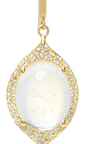 Small Oval Aladdin Earrings With Rainbow Moonstone And White Diamonds by JAMIE WOLF for Preorder on Moda Operandi