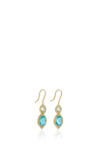 Small Hourglass Earrings With Aquamarine, Apatite And White Diamonds by JAMIE WOLF for Preorder on Moda Operandi