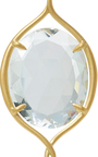 Epaulement Oval Earrings With White Topaz by JAMIE WOLF for Preorder on Moda Operandi