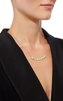 Yellow Gold Lotus Necklace With White Diamonds by JAMIE WOLF for Preorder on Moda Operandi