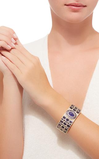 Mosaic Deco Bracelet With Tanzanite, Iolite And White Diamonds by JAMIE WOLF for Preorder on Moda Operandi