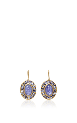 Mosaic Deco Earring With Tanzanite, Iolite And White Diamonds by JAMIE WOLF for Preorder on Moda Operandi
