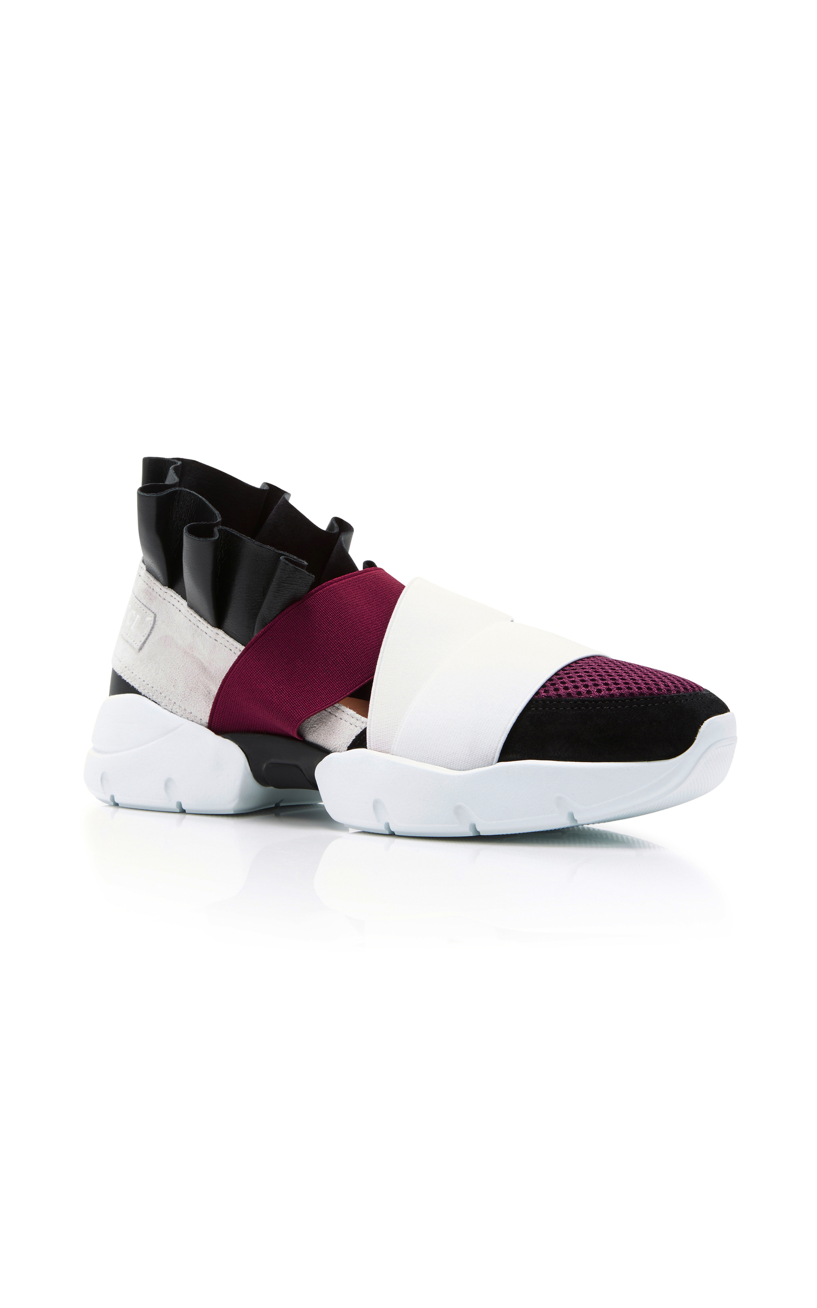 Black and Burgundy City Up Sneakers Emilio Pucci ACz3DairSu