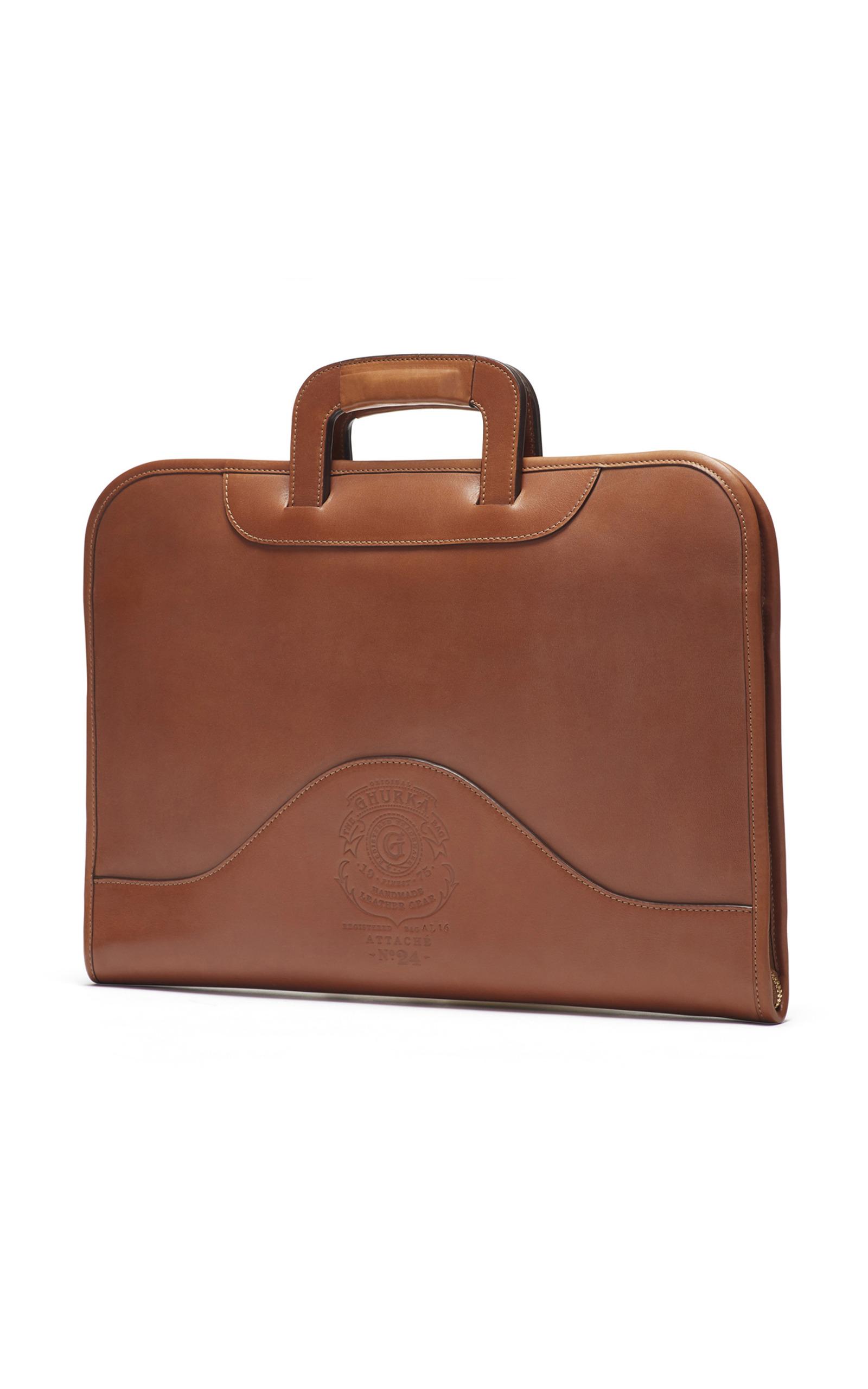 Wholesale Price Online Chestnut Leather Attache Ghurka Sale Cheap Price ZtzWJ9YNdd