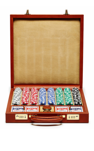 Medium ghurka brown chestnut poker set