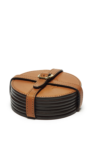 Medium ghurka brown chestnut coaster set
