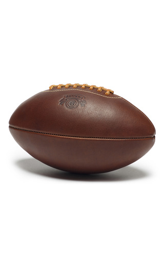Medium ghurka brown leather decorative football