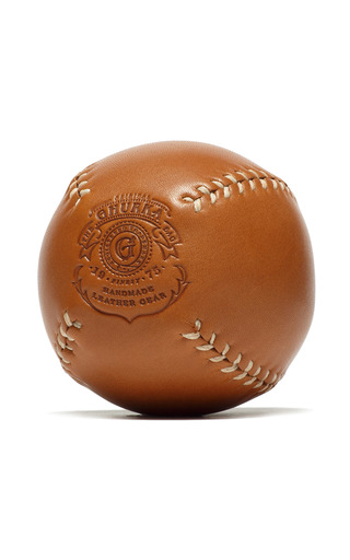 Medium ghurka brown leather decorative baseball