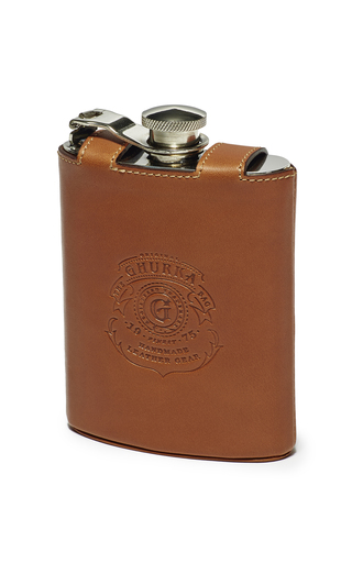Medium ghurka brown pewter flask