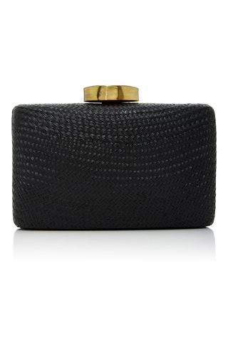 Medium kayu black tista clutch