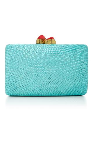Medium kayu blue jen clutch large