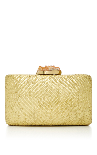 Medium kayu yellow santa fe clutch yellow