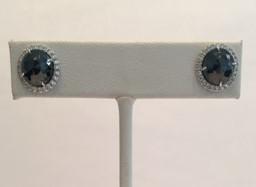 Medium nina runsdorf silver black diamond rose cut studs