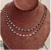 Medium nina runsdorf silver platinum multishape chain