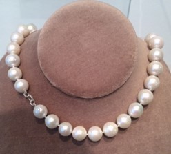 Medium nina runsdorf silver large white pearl necklace