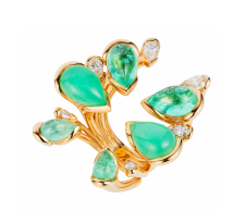 Medium fernando jorge green morpho ring