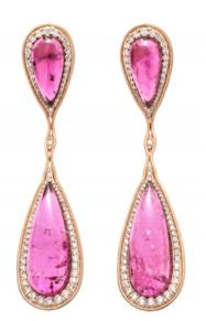 Medium fernando jorge purple fluid diamonds and stones drop earrings 2