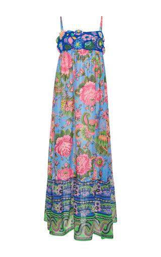 Medium anjuna print crocheted maxi dress