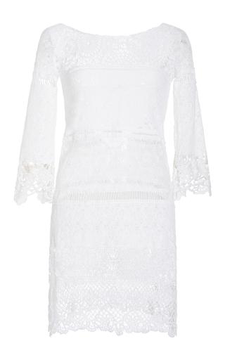 Medium anjuna white ersilia crocheted cotton blend dress