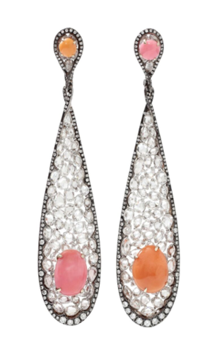 Medium arunashi pink conch pearl earrings