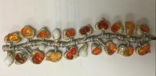 Medium nicholas varney orange tutti frutti opal bracelet